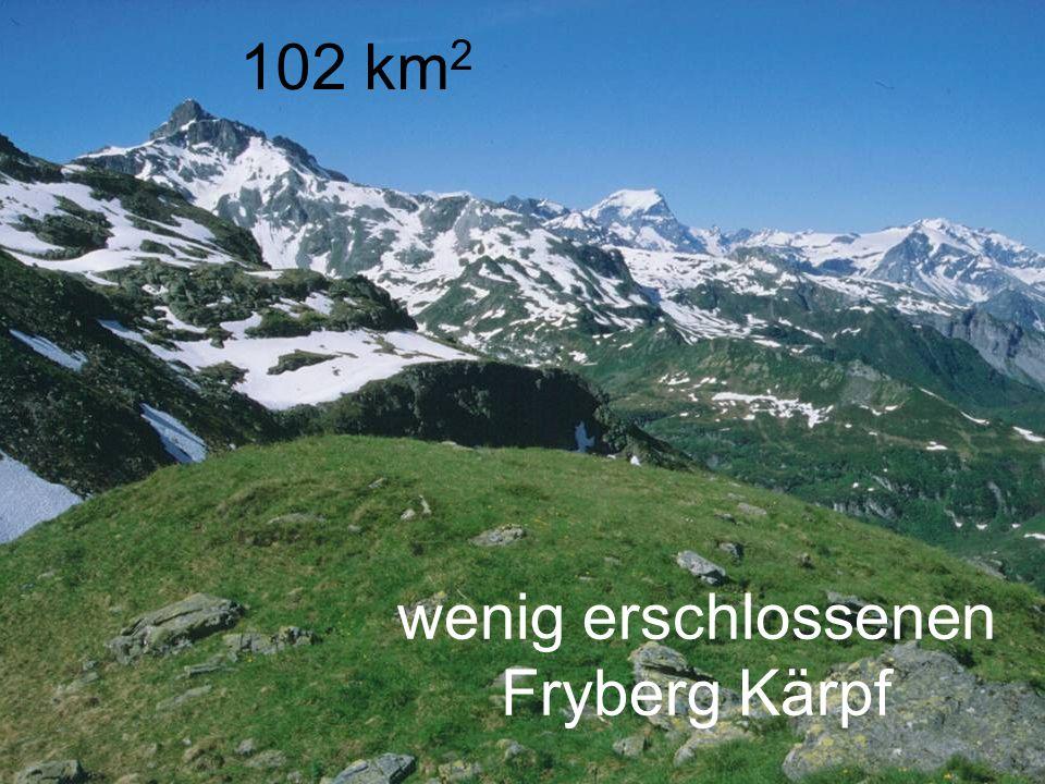 102 km 2 wenig erschlossenen Fryberg Kärpf