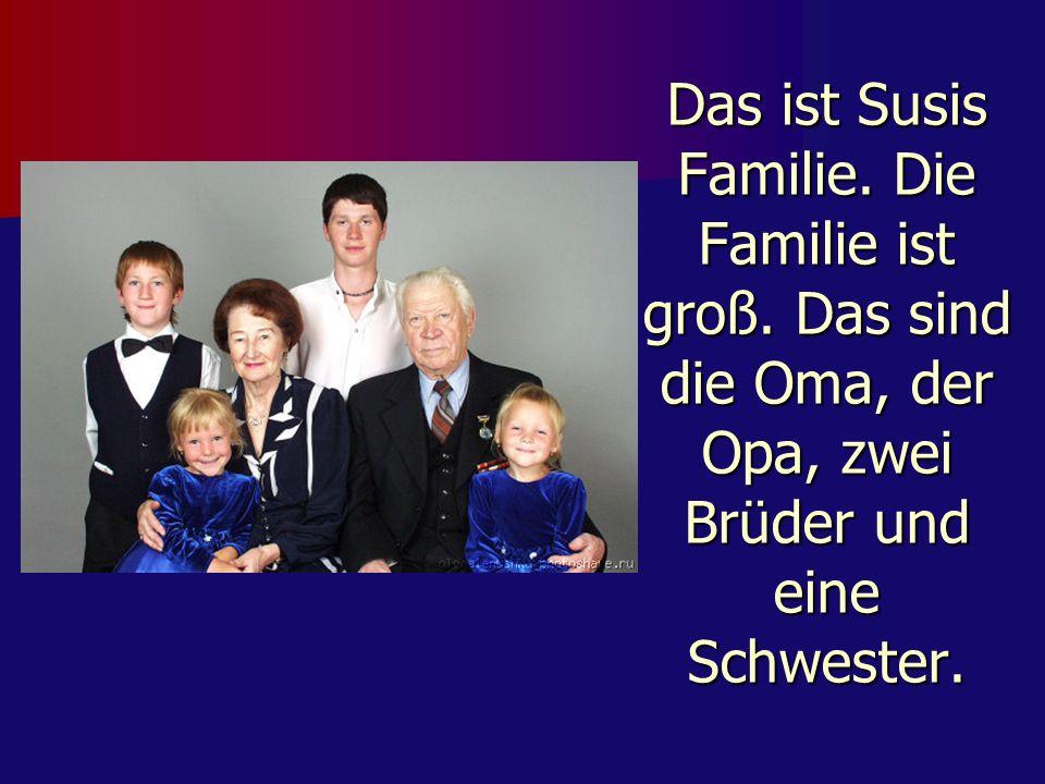 Das ist Susis Familie.Die Familie ist groß.