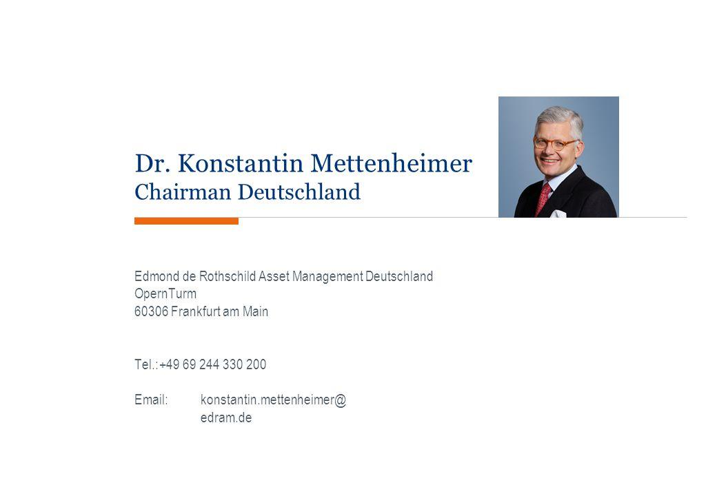 Dr. Konstantin Mettenheimer Chairman Deutschland Edmond de Rothschild Asset Management Deutschland OpernTurm 60306 Frankfurt am Main Tel.:+49 69 244 3