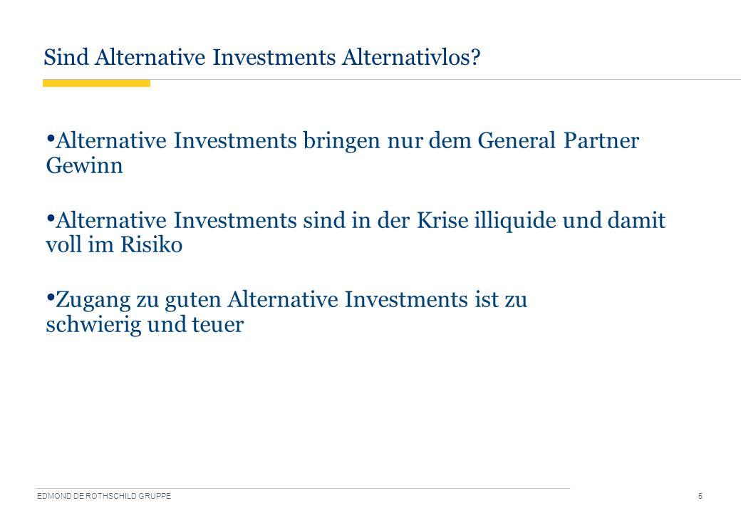 Sind Alternative Investments Alternativlos.EDMOND DE ROTHSCHILD GRUPPE 6 Überblick HAUPTTEIL I.