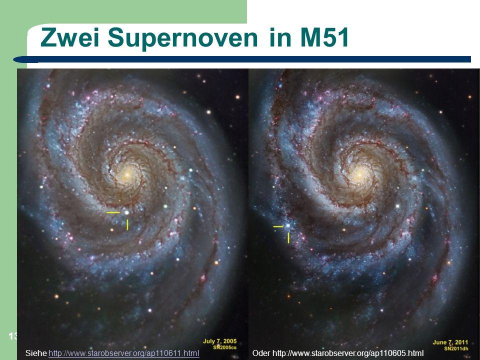 Astronomie, Kl. 9, Sternreise 1 GZG FN W.Seyboldt 13 Zwei Supernoven in M51 Siehe http://www.starobserver.org/ap110611.htmlhttp://www.starobserver.org