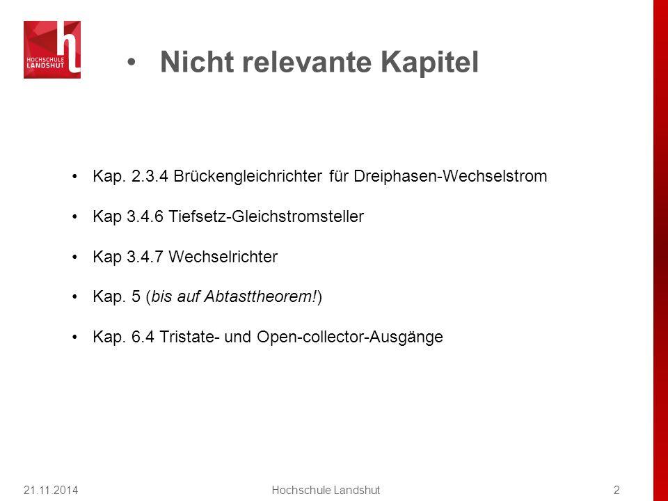 21.11.2014Hochschule Landshut13 Kapitel 2 / Lichttechn.