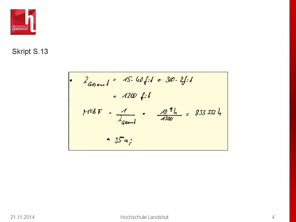 21.11.2014Hochschule Landshut5 Kapitel 2 / pn-Übergang Frage 2 1.wird die Raumladungszone im Vergleich zur Diode in Sperrpolung verbreitert 2.werden Elektronen in die p-dotierte und Löcher in die n-dotierte Zone injiziert 3.werden Elektronen aus der p- dotierten und Löcher aus der n- dotierten Zone abgesaugt 4.können Elektronen aufgrund des sich in der p-Zone bildenden, leitfähigen Kanals fließen 67 % 33 % 0%0% 0%0% EdiVoteStartEdiVoteStop 06033 0 Bei einer in Flussrichtung gepolten Diode 1 2 3 4