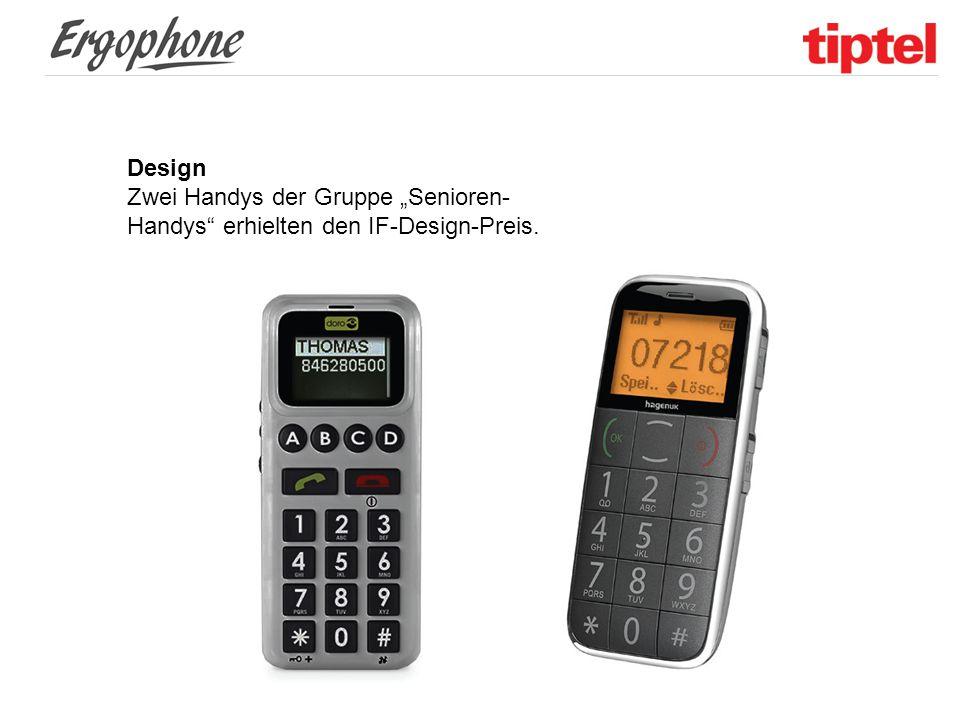 """Design Zwei Handys der Gruppe """"Senioren- Handys"""" erhielten den IF-Design-Preis."""