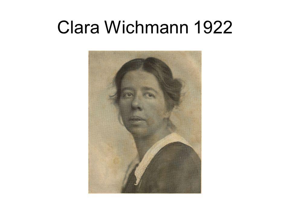 Clara Wichmann 1922