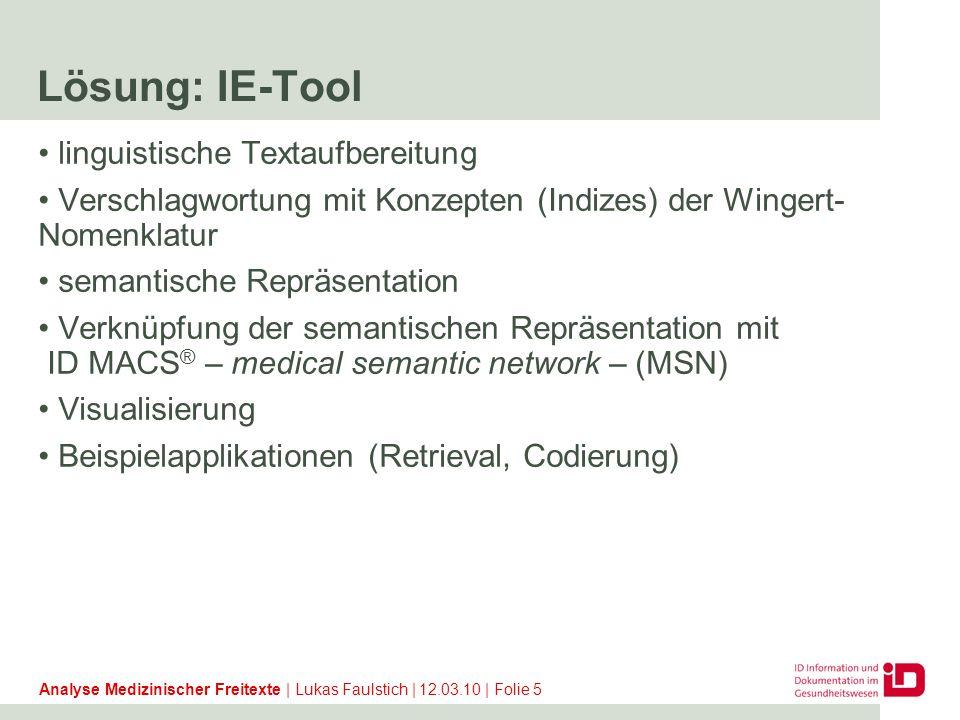 Textaufbereitungs-Pipeline Un- strukturierter Text Gliederung Satz- segmentierung Parsen / Floskeln erkennen Segment- ierung Abk.- Exp.