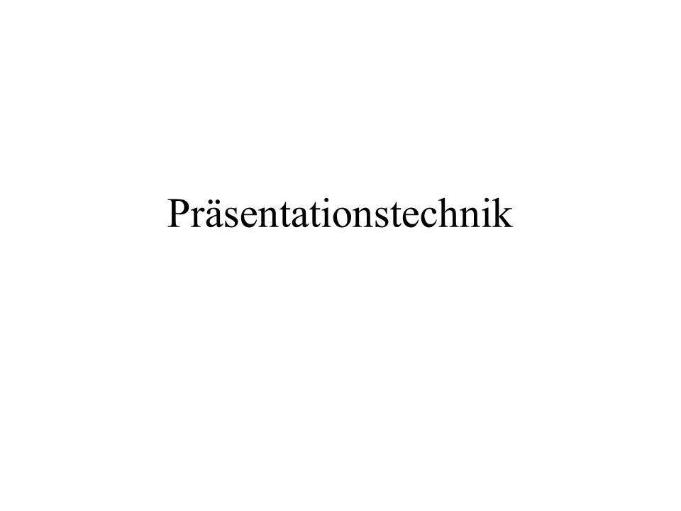 Präsentationstechnik