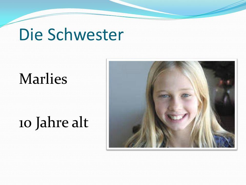 Die Schwester Marlies 10 Jahre alt