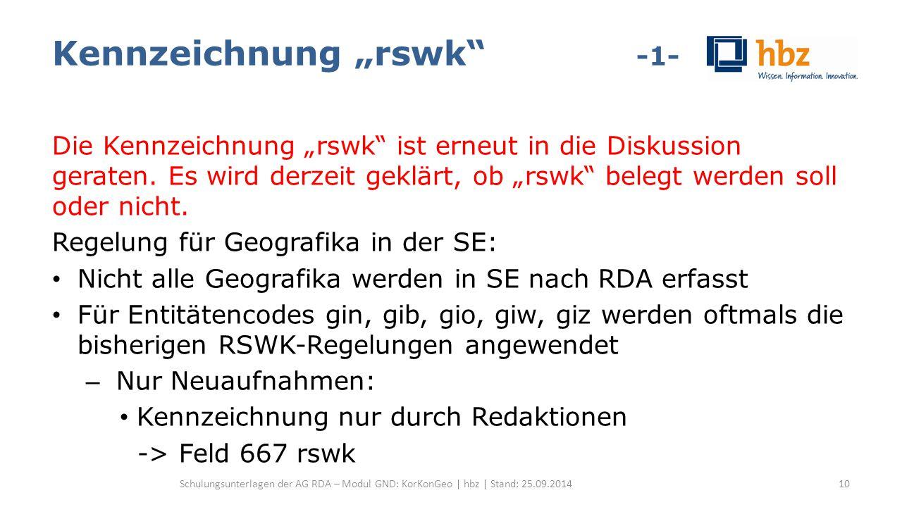 """Kennzeichnung """"rswk -1- Die Kennzeichnung """"rswk ist erneut in die Diskussion geraten."""