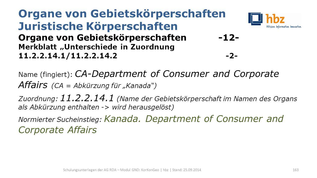"""Organe von Gebietskörperschaften Juristische Körperschaften Organe von Gebietskörperschaften -12- Merkblatt """"Unterschiede in Zuordnung 11.2.2.14.1/11."""