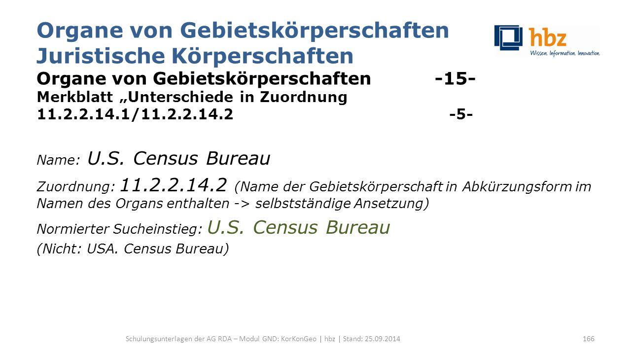 """Organe von Gebietskörperschaften Juristische Körperschaften Organe von Gebietskörperschaften -15- Merkblatt """"Unterschiede in Zuordnung 11.2.2.14.1/11.2.2.14.2 -5- Name: U.S."""