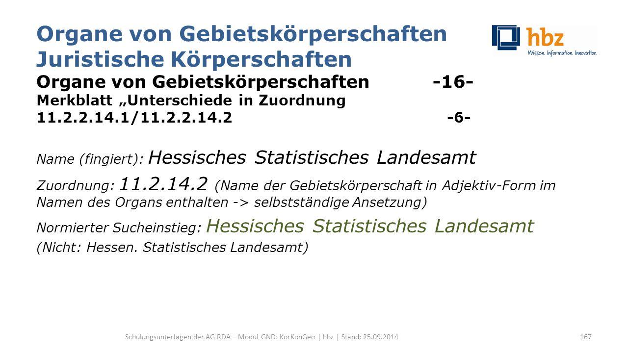 """Organe von Gebietskörperschaften Juristische Körperschaften Organe von Gebietskörperschaften -16- Merkblatt """"Unterschiede in Zuordnung 11.2.2.14.1/11."""