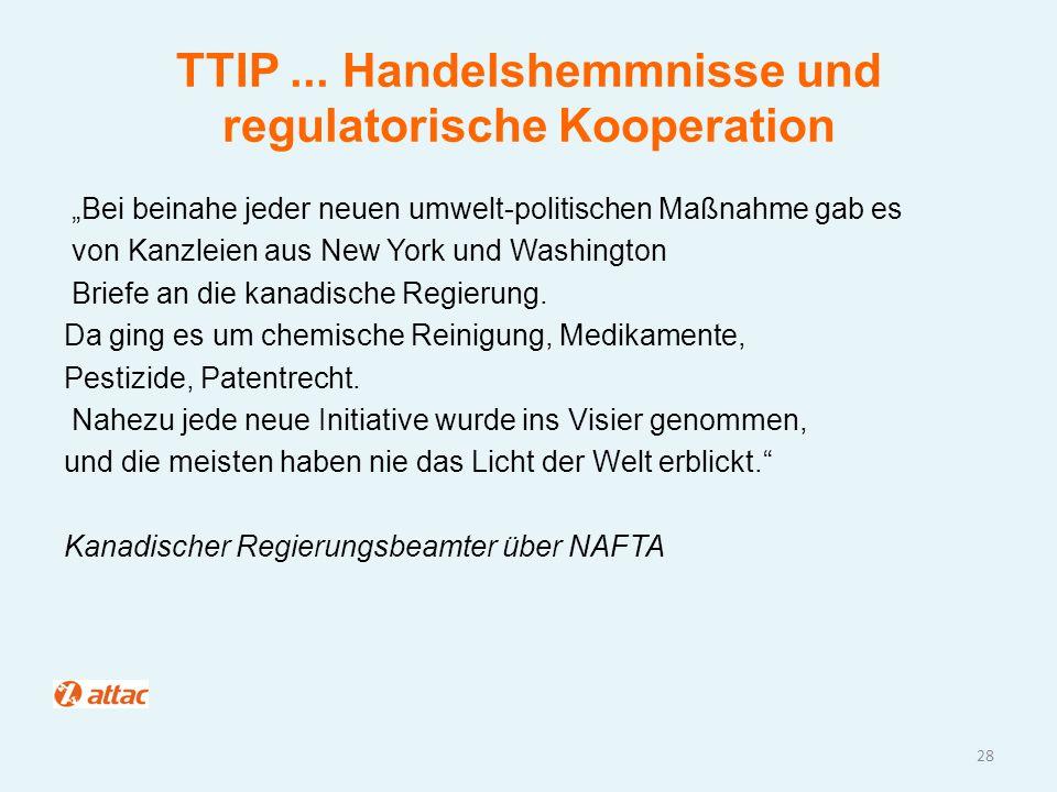 """TTIP... Handelshemmnisse und regulatorische Kooperation """"Bei beinahe jeder neuen umwelt-politischen Maßnahme gab es von Kanzleien aus New York und Was"""