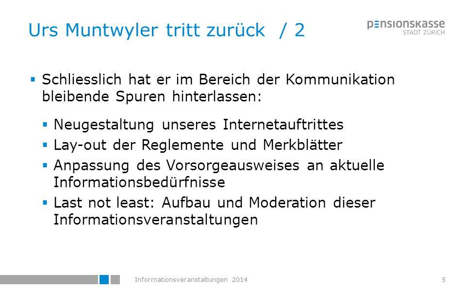 Informationsveranstaltungen 20146 Stefan Rüthi wird Abteilungsleiter  Stefan Rüthi übernimmt die Leitung der Abteilung  Das Thema Kommunikation wird in den nächsten Monaten intern überdacht und neu geregelt  Stefan Rüthi ist im Mai 1995 eingetreten.