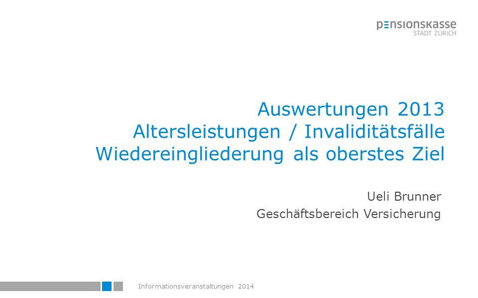 Informationsveranstaltungen 201451 Alterspensionierungen 51