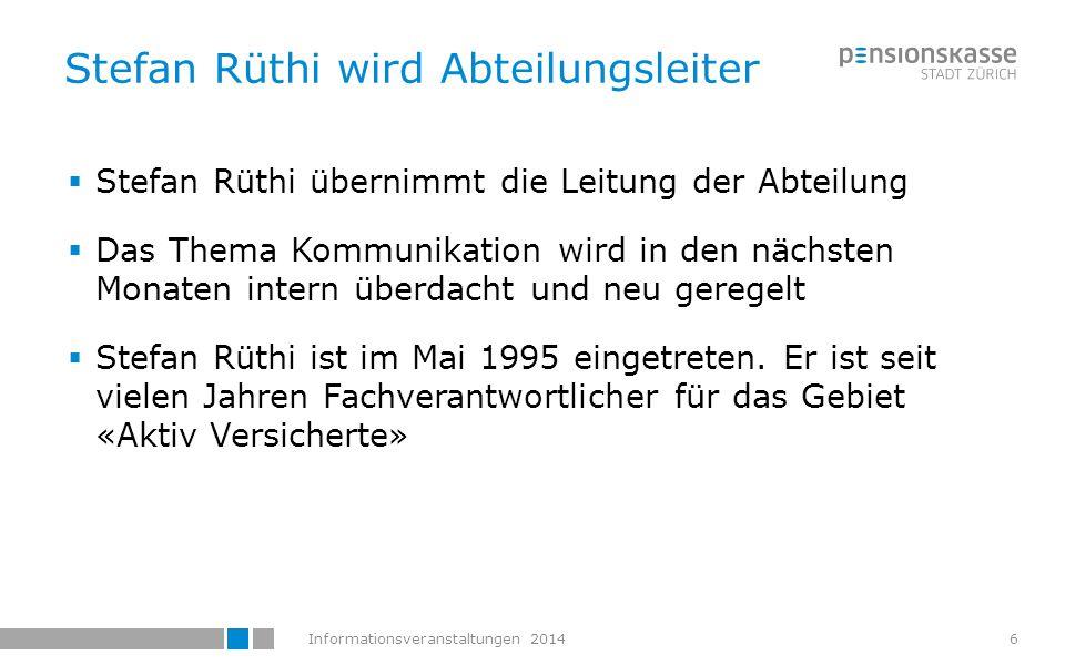 Informationsveranstaltungen 2014 Was sind Generationentafeln ? Christoph Furrer, Deprez Experten AG