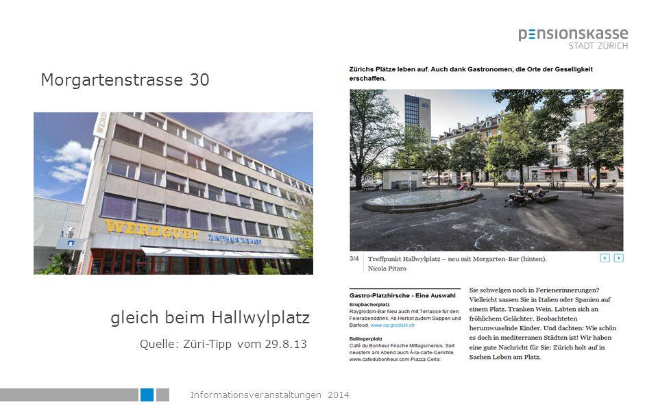 Informationsveranstaltungen 201478 Übersicht  Liegenschaften-Rochaden  Farbkonzept  Wie erreichen Sie uns.