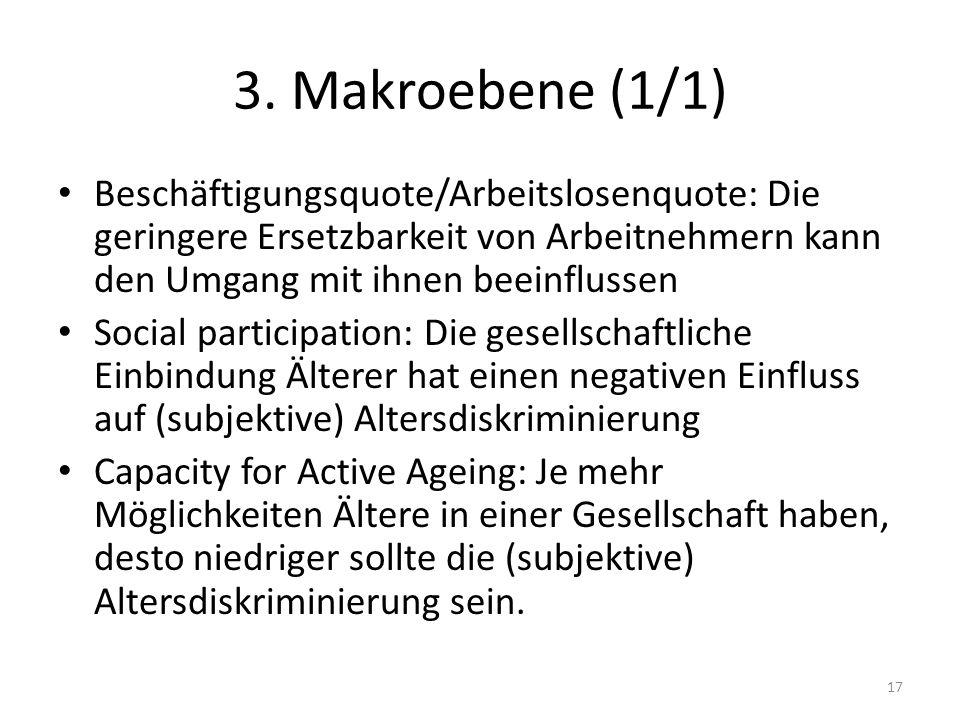 3. Makroebene (1/1) Beschäftigungsquote/Arbeitslosenquote: Die geringere Ersetzbarkeit von Arbeitnehmern kann den Umgang mit ihnen beeinflussen Social