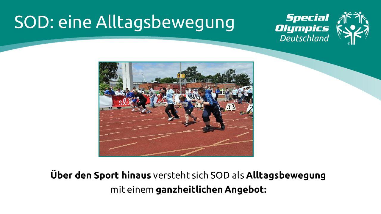 Über den Sport hinaus versteht sich SOD als Alltagsbewegung mit einem ganzheitlichen Angebot: SOD: eine Alltagsbewegung