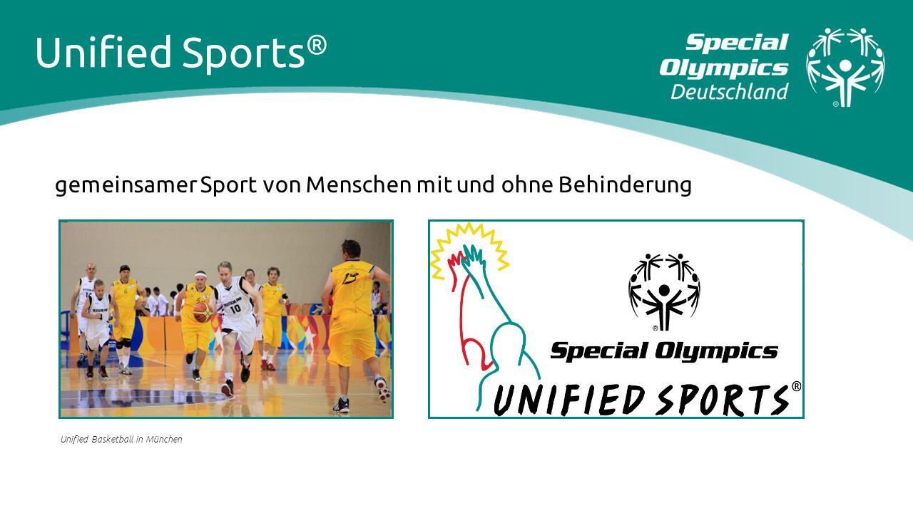 gemeinsamer Sport von Menschen mit und ohne Behinderung Unified Basketball in München