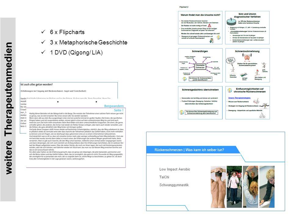 weitere Therapeutenmedien 6 x Flipcharts 3 x Metaphorische Geschichte 1 DVD (Qigong/ LIA)