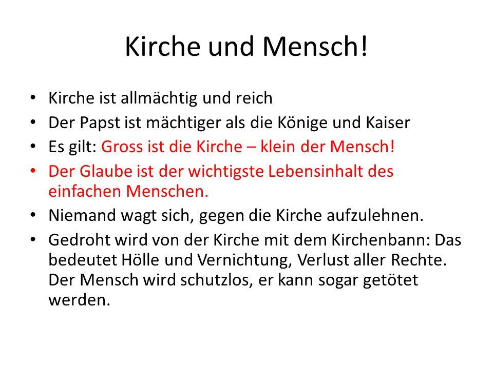 Kirche und Mensch.