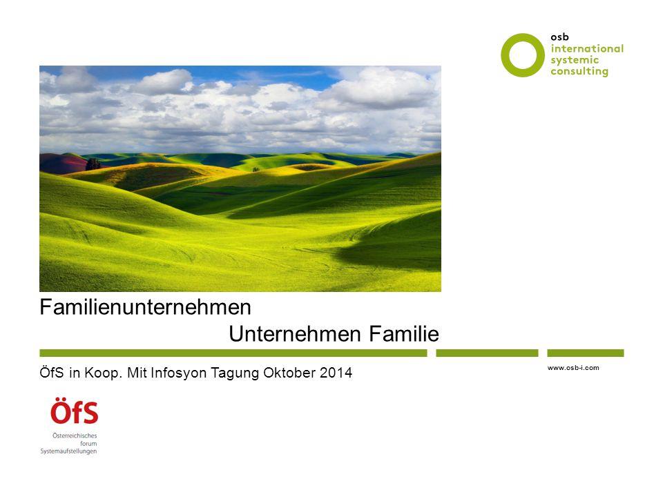 www.osb-i.com Familienunternehmen Unternehmen Familie ÖfS in Koop. Mit Infosyon Tagung Oktober 2014