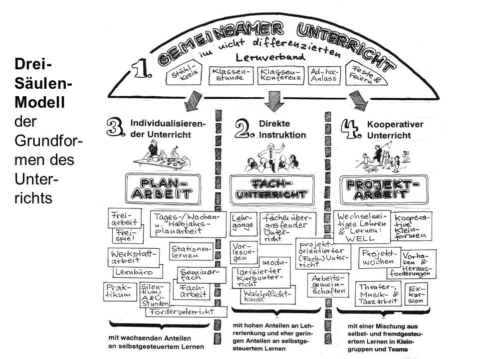 Drei- Säulen- Modell der Grundfor- men des Unter- richts