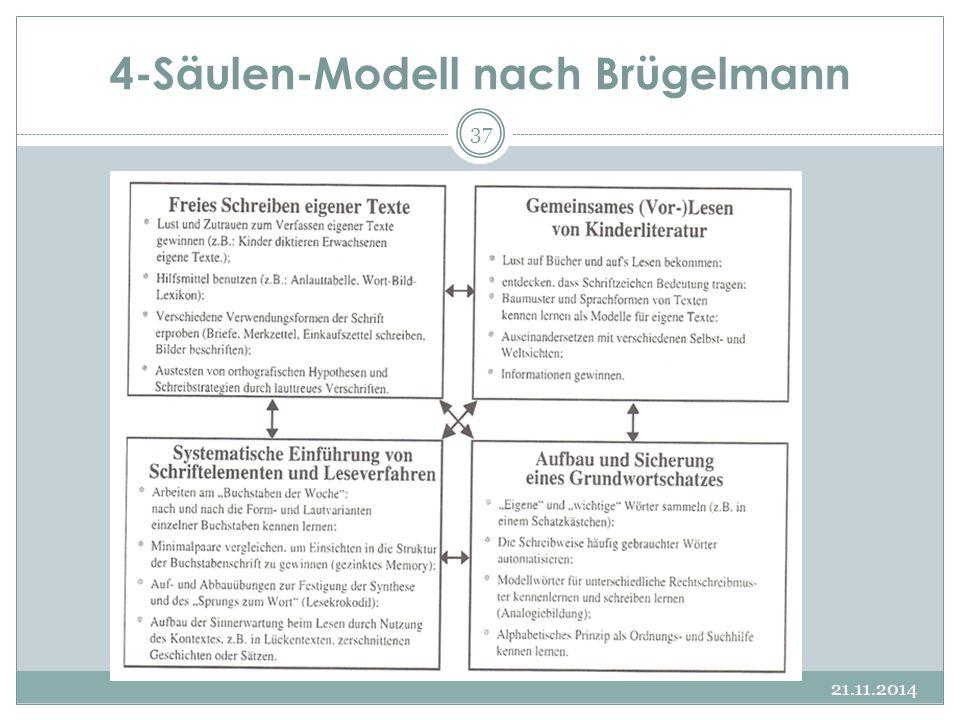 4-Säulen-Modell nach Brügelmann 21.11.2014 37