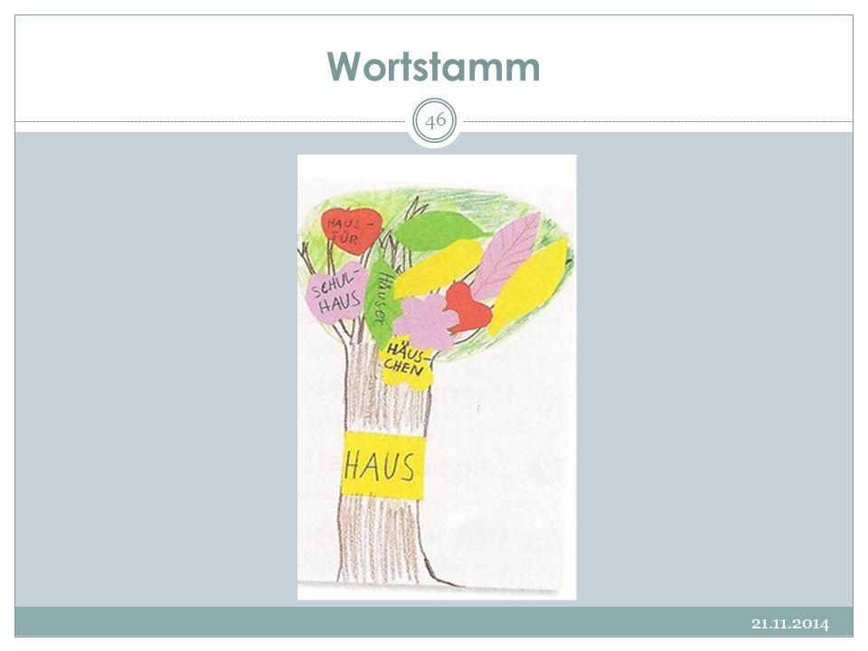 Wortstamm 21.11.2014 46