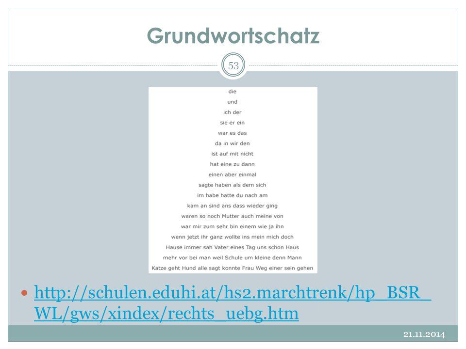 Grundwortschatz http://schulen.eduhi.at/hs2.marchtrenk/hp_BSR_ WL/gws/xindex/rechts_uebg.htm http://schulen.eduhi.at/hs2.marchtrenk/hp_BSR_ WL/gws/xin