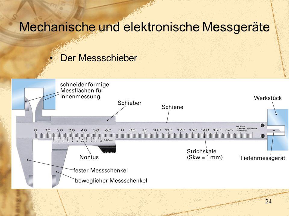 24 Mechanische und elektronische Messgeräte Der Messschieber
