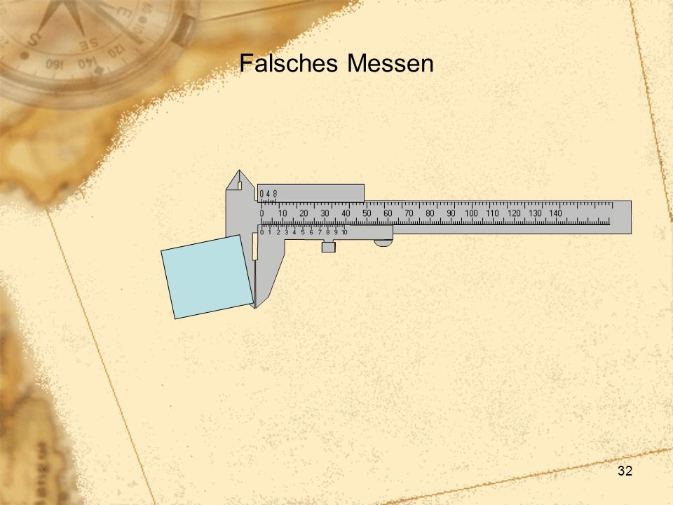 32 Falsches Messen
