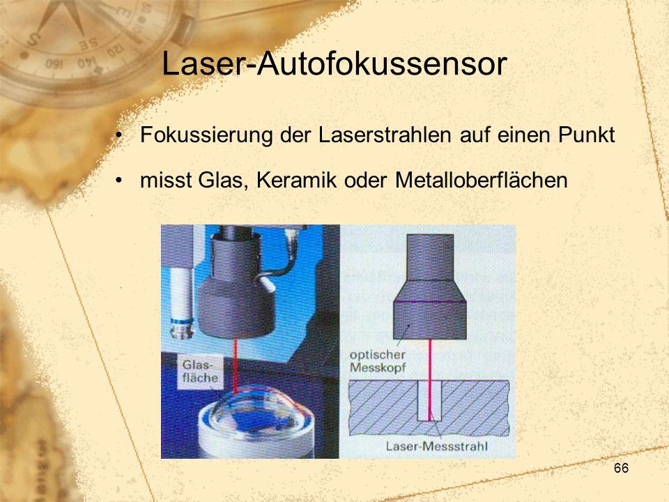 66 Laser-Autofokussensor Fokussierung der Laserstrahlen auf einen Punkt misst Glas, Keramik oder Metalloberflächen