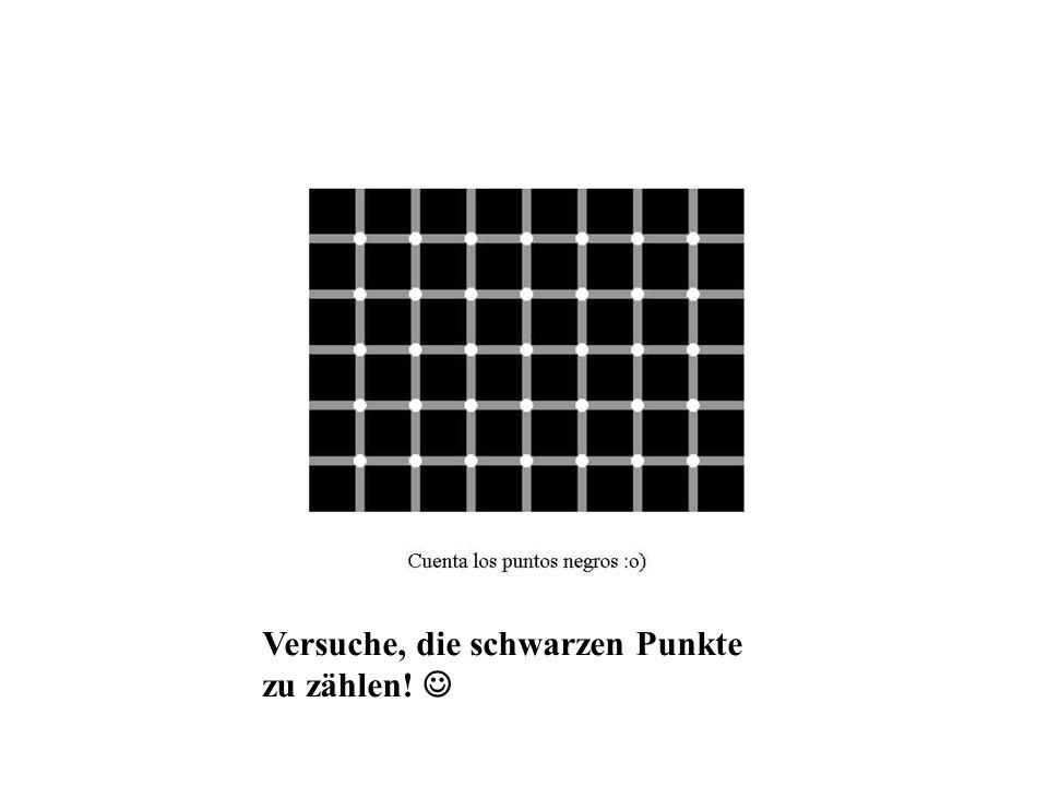 Versuche, die schwarzen Punkte zu zählen!