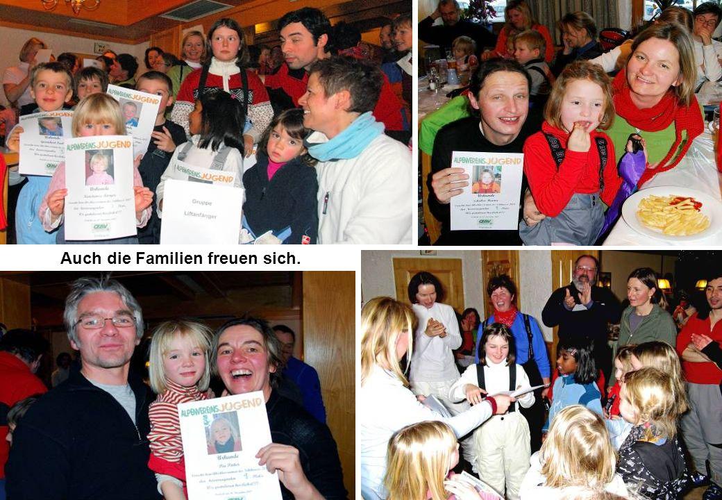 Auch die Familien freuen sich.