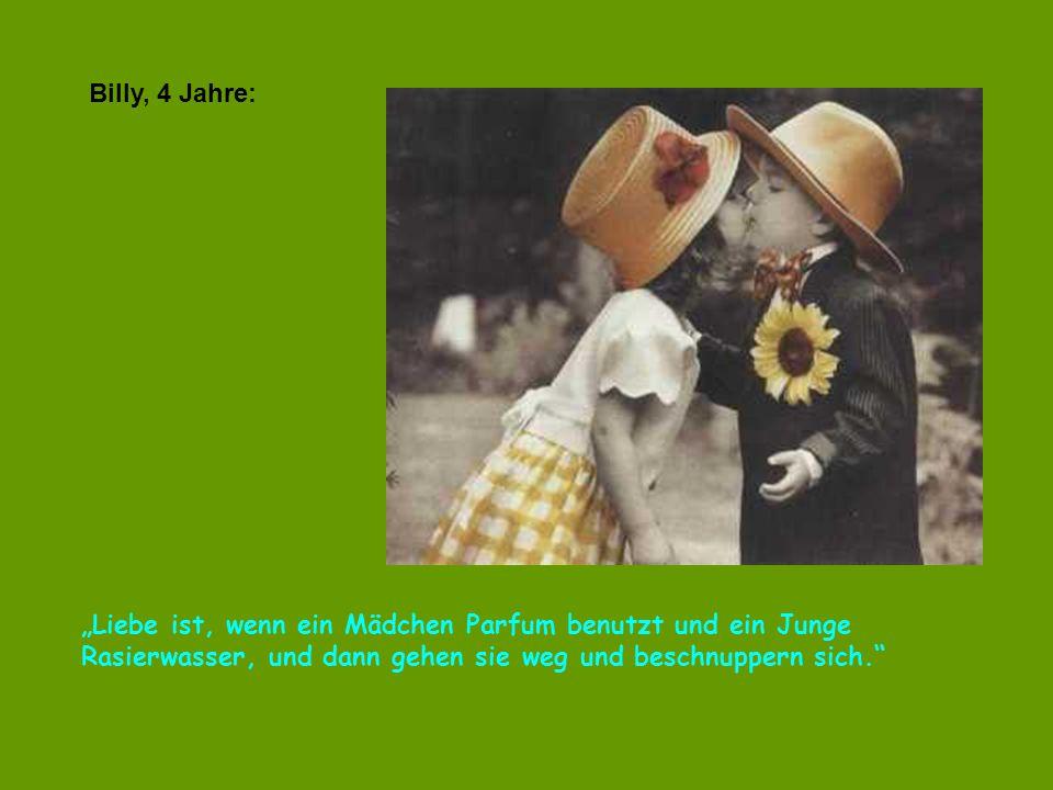 """verteilt durch www.funmail2u.dewww.funmail2u.de Clare, 6 Jahre: """"Wenn Mama dem Vati das beste Stück vom Hähnchen gibt, das ist Liebe."""