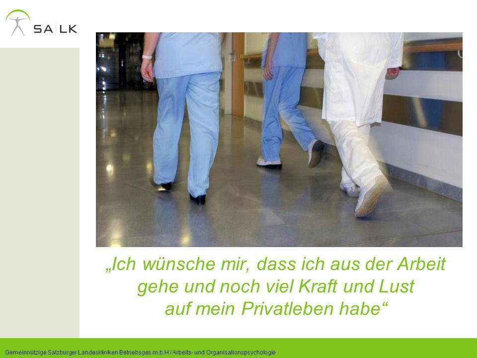 """""""Ich wünsche mir, dass ich aus der Arbeit gehe und noch viel Kraft und Lust auf mein Privatleben habe"""" Gemeinnützige Salzburger Landeskliniken Betrieb"""