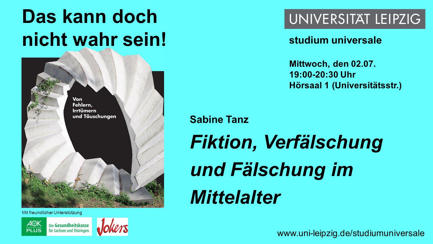 Frank Gaunitz Verschwörungstheorien www.uni-leipzig.de/studiumuniversale Das kann doch nicht wahr sein.