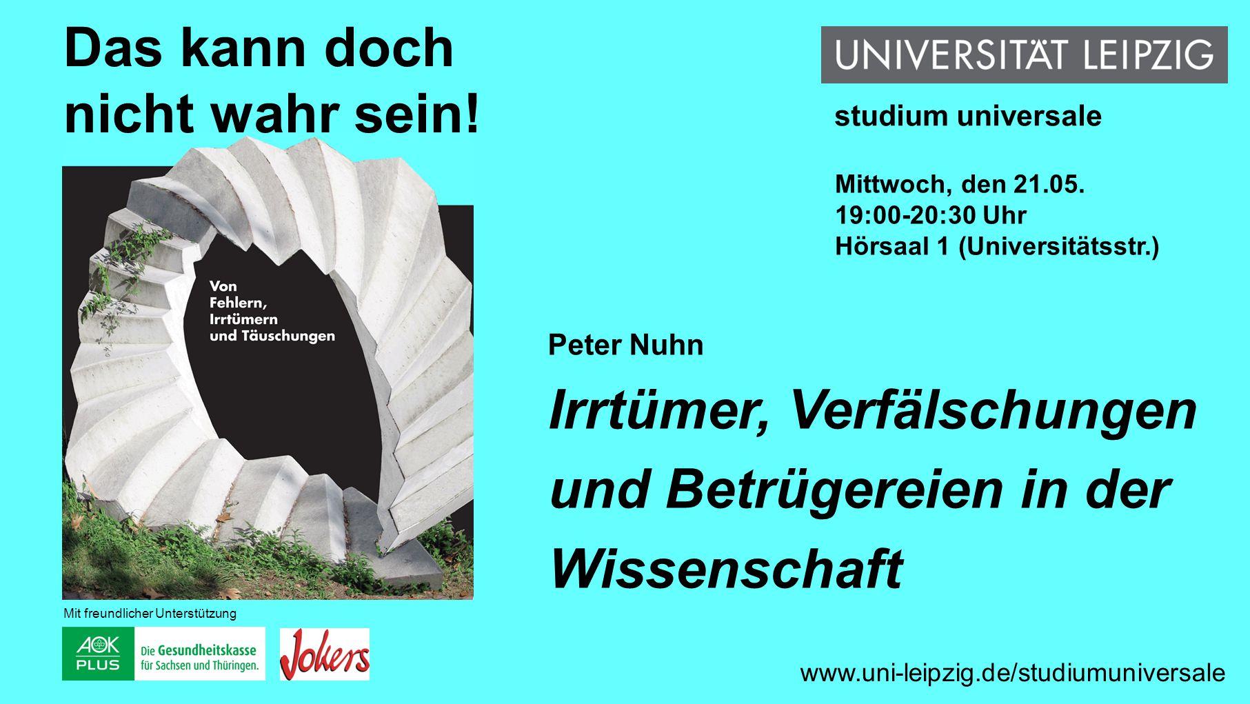 Andreas Anter Die Lüge in der Politik www.uni-leipzig.de/studiumuniversale Das kann doch nicht wahr sein.