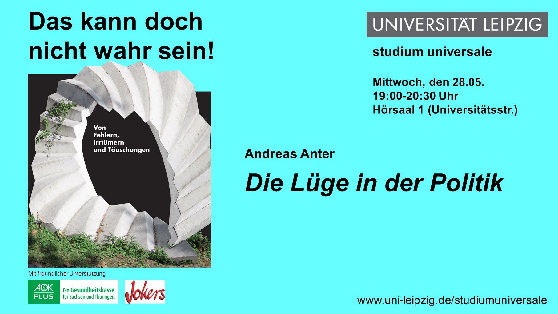 """Ines Busch-Lauer """"Kopieren statt """"Kooperieren Fehler würzen die Kommunikation www.uni-leipzig.de/studiumuniversale Das kann doch nicht wahr sein."""