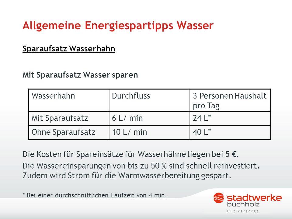 Allgemeine Energiespartipps Wasser Sparaufsatz Wasserhahn Mit Sparaufsatz Wasser sparen Die Kosten für Spareinsätze für Wasserhähne liegen bei 5 €. Di