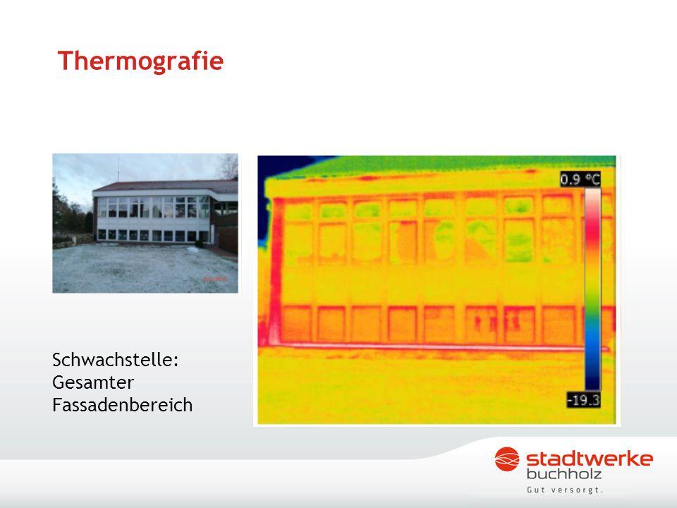 Thermografie Schwachstelle: Gesamter Fassadenbereich