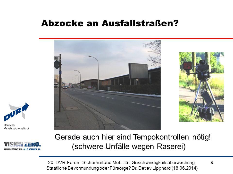 Abzocke an Ausfallstraßen. 920.