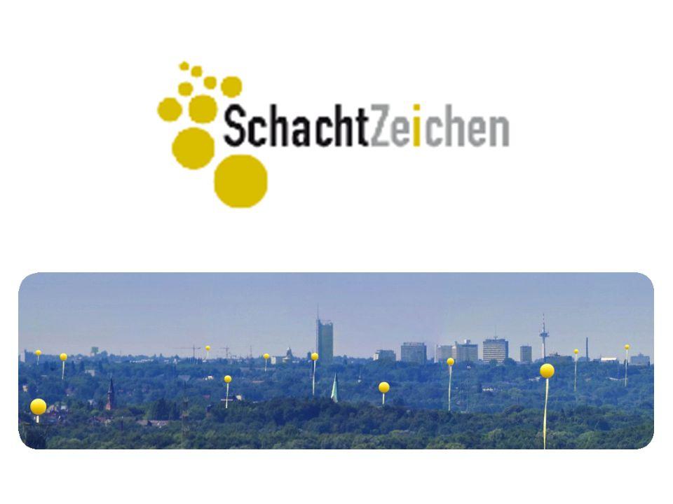 SchachtZeichen ist mehr als ein großes Luftbild Denn SchachtZeichen: ist die Idee, den Strukturwandel im Ruhrgebiet aufzuzeigen und ihn sinnlich erfahrbar zu machen, indem die Orte, an denen große Schachtanlagen standen, kilometerweit sichtbar markiert werden.