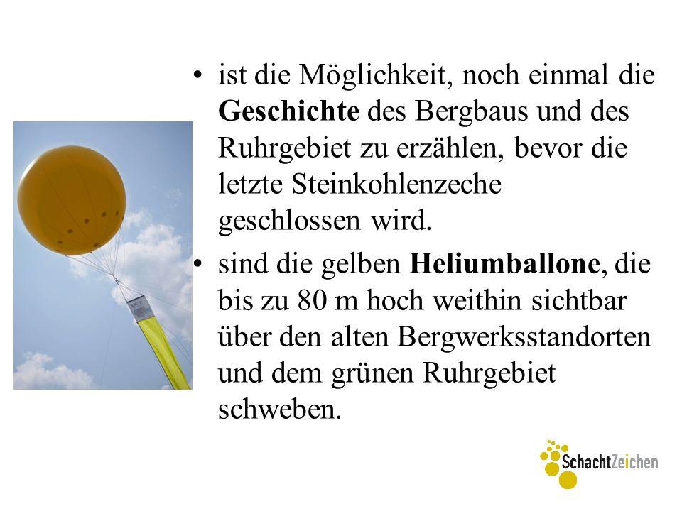 ist die Möglichkeit, noch einmal die Geschichte des Bergbaus und des Ruhrgebiet zu erzählen, bevor die letzte Steinkohlenzeche geschlossen wird. sind