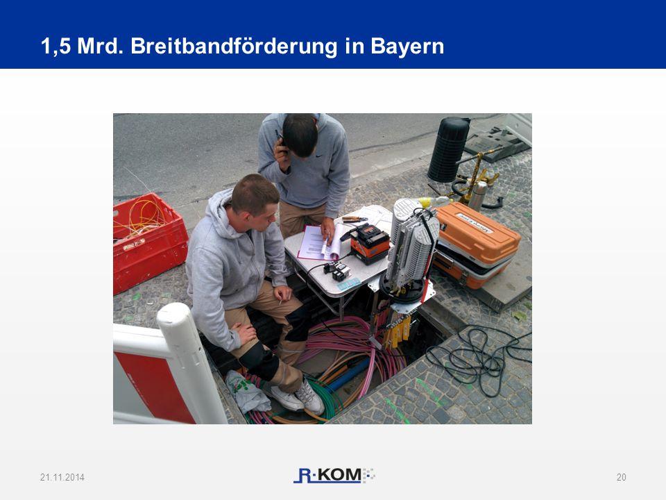 1,5 Mrd. Breitbandförderung in Bayern 21.11.201420