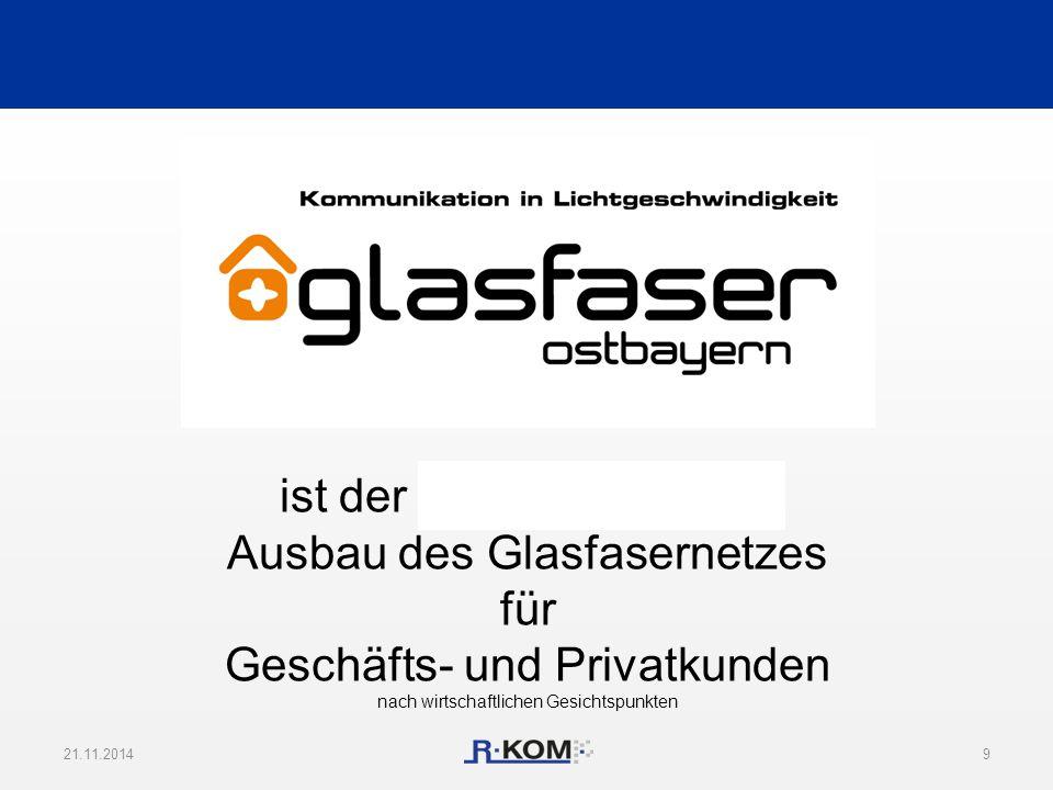 21.11.20149 ist der flächendeckende Ausbau des Glasfasernetzes für Geschäfts- und Privatkunden nach wirtschaftlichen Gesichtspunkten