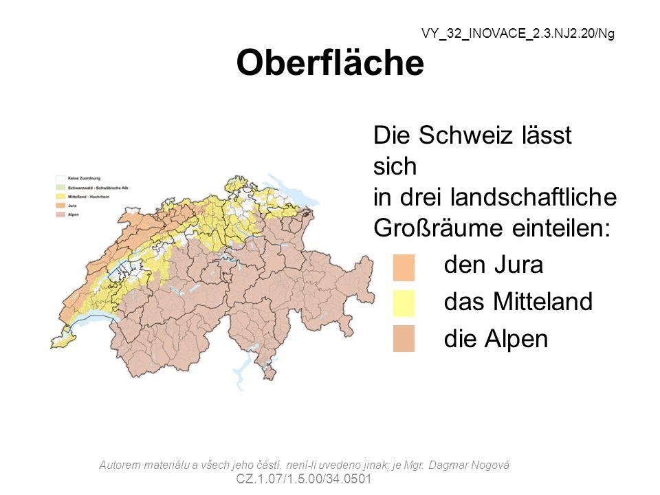 Seen Ordnet den Nummern die richtigen Seen zu: Genfer See - 6 Bodensee - 3 Lago Maggiore - 5 Neuenburger See -1 Vierwaldstättersee - 4 Zürichsee - 2 VY_32_INOVACE_2.3.NJ2.20/Ng 2 1 3 4 6 5 Autorem materiálu a všech jeho částí, není-li uvedeno jinak, je Mgr.