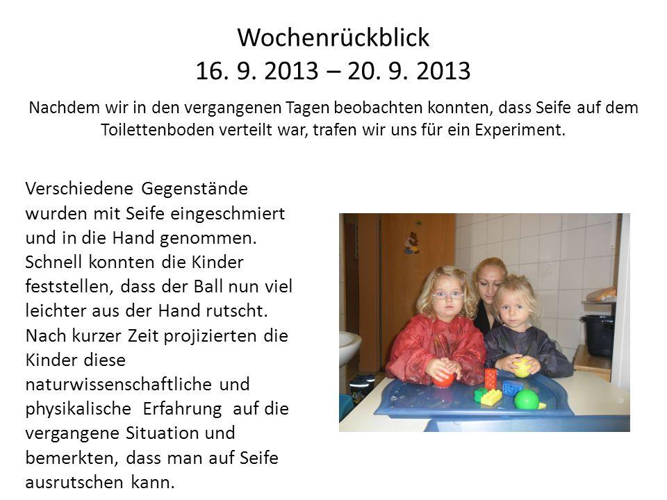Wochenrückblick 16. 9. 2013 – 20. 9.